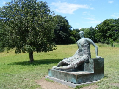 Henry Moore's Draped Seated Woman in Yorkshire Sculpture Park
