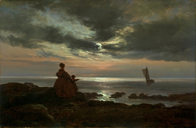 Johan Christian Dahl (1785-1857) Mother and Child by the Sea