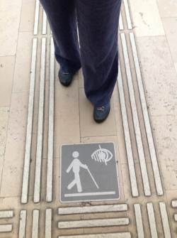 Braille Pathway at Gare de l'Est