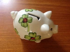 a china piggy bank