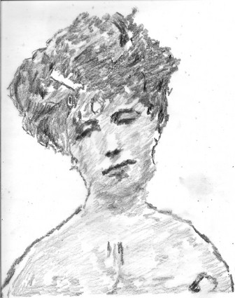 Elizabeth_von_arnim_pencil_sketch